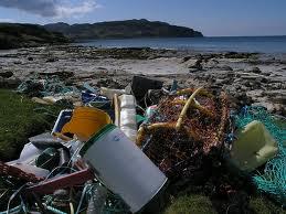Laig beach marine waste